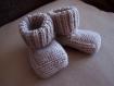 Chaussons pour bébé naissance à 3 mois (fait main en laine)