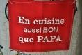 Tablier enfant en cuisine aussi bon que papa