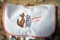 Pochette lingerie tissu coton enduit motif chats