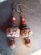 Boucles d'oreilles romantiques, perle céramique rustique, poétique