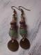 Boucles d'oreilles perles du ghana, rocaille et coco