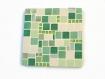 Dessous de plat mosaique vert