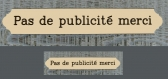 Plaque pour boite aux lettres, pas de publicite