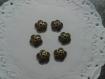 6 coupelles décorées en bronze