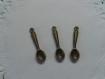 Lot de 3 breloques cuillière en bronze
