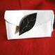 Porte monnaie en cuir blanc
