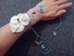 Soldes collier et bracelet en fil aluminium bleu