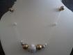 Parure rocher blanc: boucles d'oreilles et collier idéal cadeau de st valentin