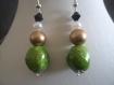 Parure rocher vert: boucles d'oreilles et collier idéal cadeau de st valentin