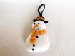 Bonhomme de neige, decoration de noel, decoration en feutrine