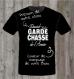 Tee shirt meilleur garde chasse de l'année + prenom ideal cadeau (papy papa parrain tonton cousin)
