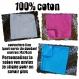 Couverture fine 100% coton à personnaliser (rose bleu ou blanc) mixte