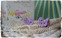 Mini papillon au crochet en 100% coton couleur ml 107 lavender