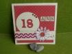 """Carte d'anniversaire """"18 ans"""""""