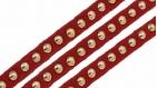 50 cm de ruban rouge veloutine strass 8 mm