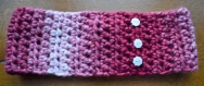 Bandeau de tête/headband rose au crochet