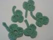 Cinq trèfles à 3 feuilles pour accrocher ou créer des bijoux