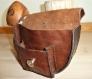 Sac ceinture / escarcelle , en cuir
