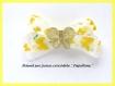 Pince à cheveux noeud barrette pince crocodile originale métal argent papillons fleurs ruban satiné et ruban organza