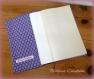 Protège livre de poche violet