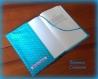 Protège livre de poche turquoise