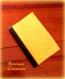 Protège livre de poche jaune