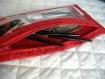 Trousse plate transparente rouge