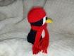 Petit pingouin doudou au crochet (laine)