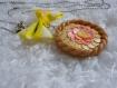 Collier tarte aux fruits citrons pamplemousses fimo