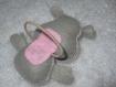 Elastique cheveux pour enfant hippopotame