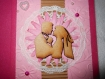 Carte de mariage félicitations silhouettes mariés rose