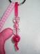 Porte-clés peluche doudou rose en feutrine