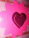 Carte saint valentin rose ruban coeur