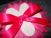 Carte anniversaire st valentin... gris et rose