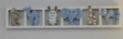 Décoration chambre enfant et bébé unique en feutrine - aqua gris turquoise