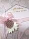 Carte félicitations de mariage, esprit romantique dentelle et élégance