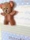 Carte de naissance petit garçon au gros nounours