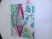 Pochette tissu enduit fleuri