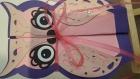 Carte en forme de chouette violette