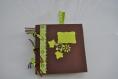Mini album vert et brun thème nature