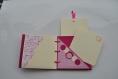 Mini album rose fuchsia et crème