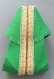 Espadrilles à semelles plates, personnalisées tendances, en coton, de couleur vert prairie