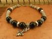 """Bracelet """"leviaz"""", homme médiéval en gemmes et plaqué argent"""
