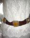 Ceinture bijou en perles enfilées et boucles imitation écaille