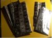 Sachets cadeau en cellophane imprimé argent noir. papeterie décorative