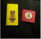 Set de 2 petits carnets jaune,et rouge pour croquis esquisses et dessins, décorés motifs