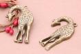 5 breloques 43mmx29mm pendentif en bronze girafe k759