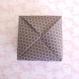 Boîte en papier 70 g plié origami pour emballage cadeau.