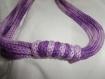 Collier sautoir en tricotin violet dégradé