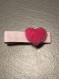 Barrette coeur rose pour petite fille